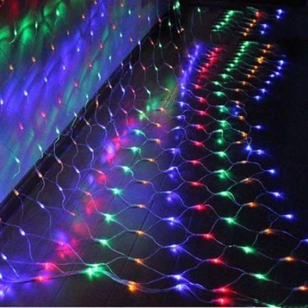Instalatie 2m x 2m, Plasa Multicolora, 160 LED-uri, de exterior