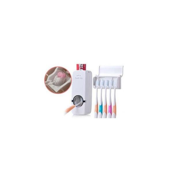 Dozator automat pasta de dinti, pentru copii + suport pentru 5 p