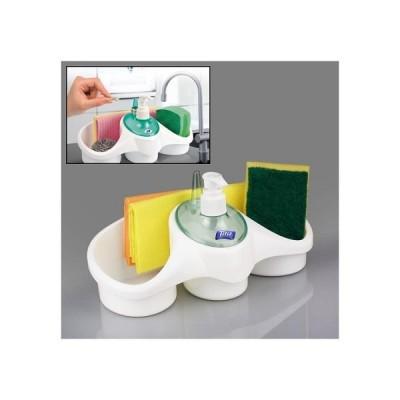 Suport organizator pentru bucatarie: burete, detergent si acceso