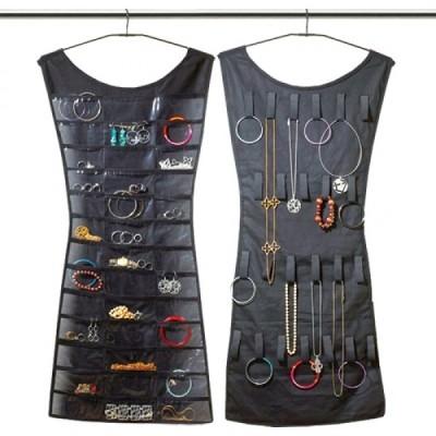 Organizator bijuterii, rochita cu 30 de buzunare, pentru dulap