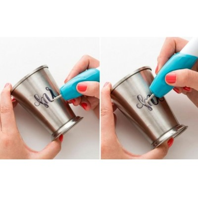 Creion pentru gravat, alb/albastru