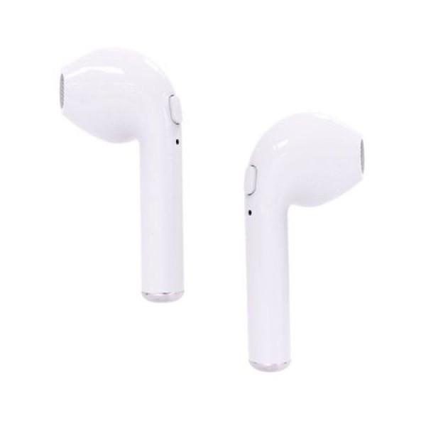 Casti wireless, i7, Twins, True Wireless, V4.2+DER, Earbuds, Ste