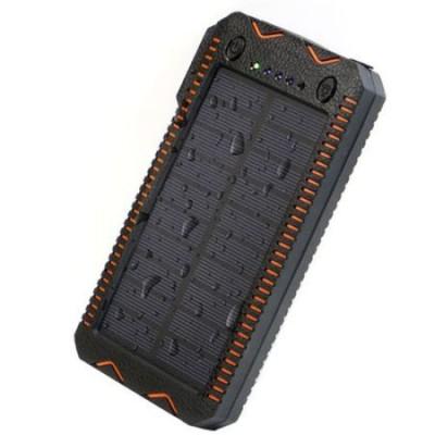 Acumulator extern solar portabil PowerBank 8000mAh, 2 USB, Lante