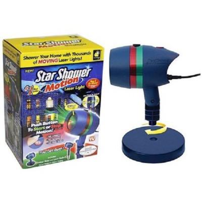 Proiector laser cu lumini, static si miscator figurine de Craciu