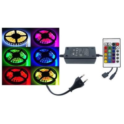 Banda 300 Led RGB de 5m, cu telecomanda