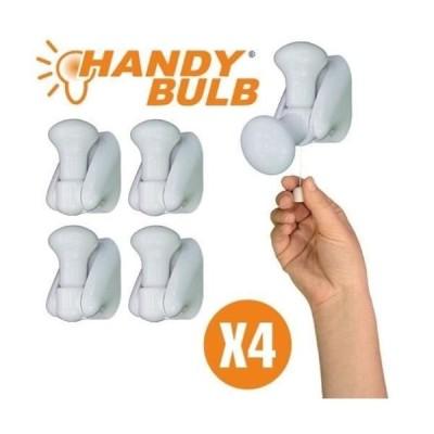 Becuri fara fir, set 4 Handy Bulb, cu intrerupator