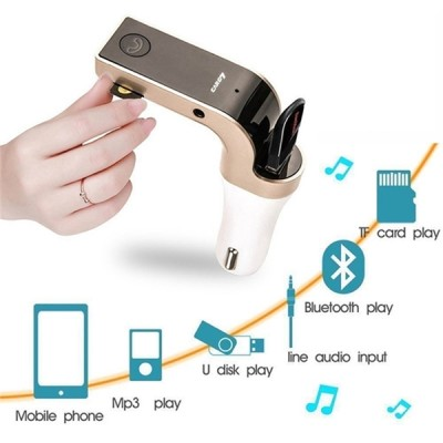 Modulator FM auto cu kit Bluetooth handsfree