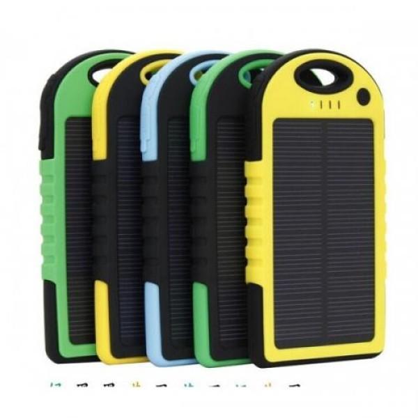 Baterie externa solara 15000 mAh - Rezistenta la socuri si udat