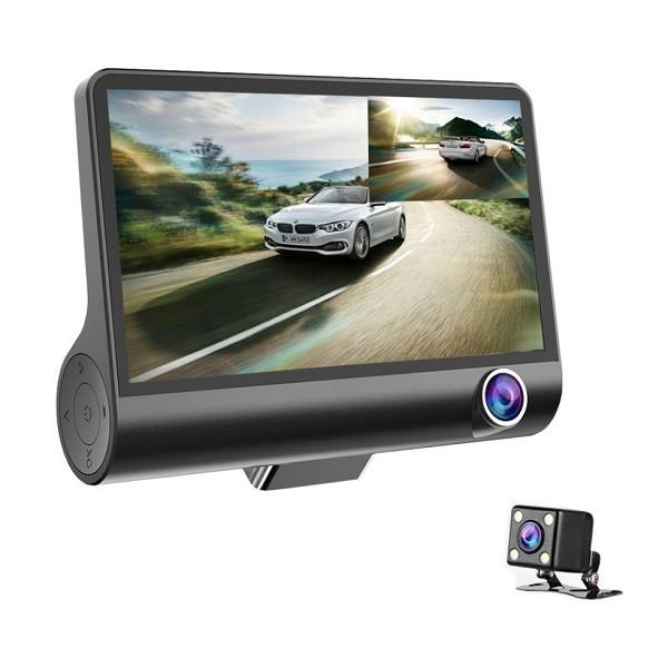 Camera Auto FULL-HD Tripla, fata/spate/interior, ecran 4'', G Se