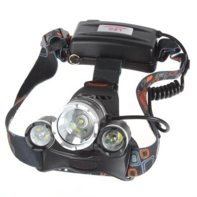 Lanterna frontala din aluminiu, Boruit RJ-3000, 3 LED-uri CREE-X