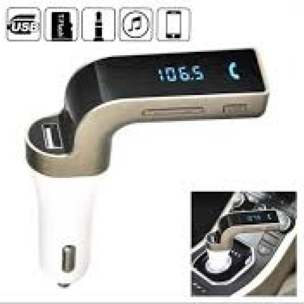 Modulator FM auto cu kit Bluetooth handsfree pentru apeluri tele