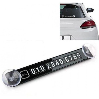 Tablita magnetica de parbriz pentru numarul de telefon in parcar