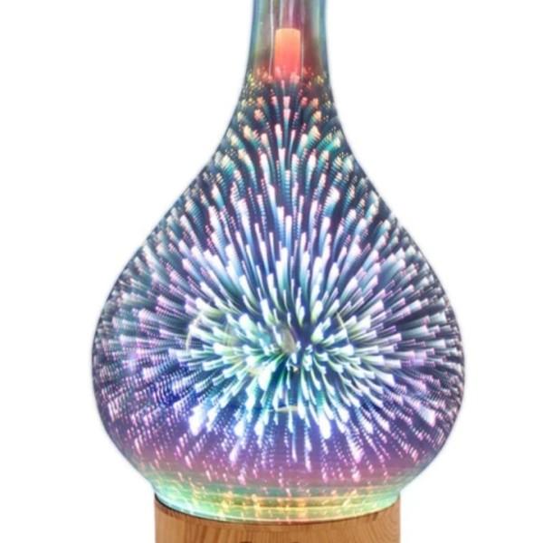 Difuzor arome din sticla cu diferite culori interschimbabile cu