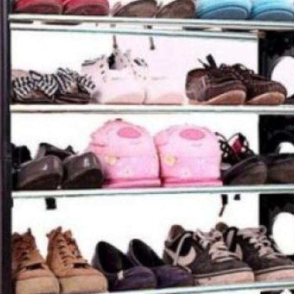 Suport de pantofi pentru 12 perechi, stil etajera, stabila si us