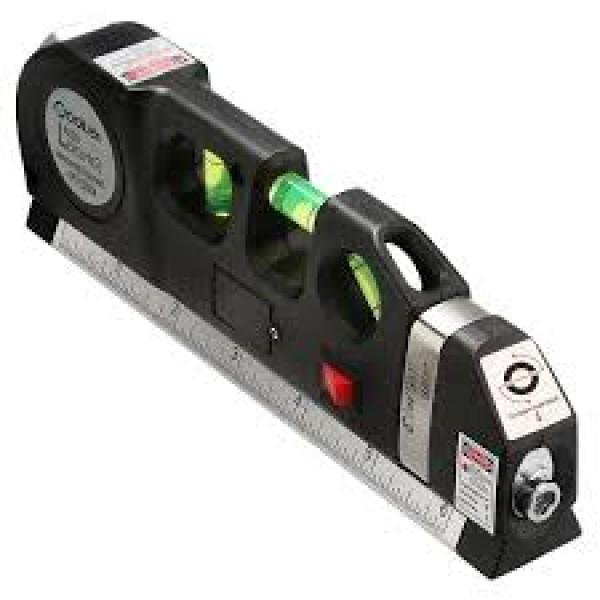 Nivela cu boloboc, ruleta cu autoblocare, rigla cu raza laser