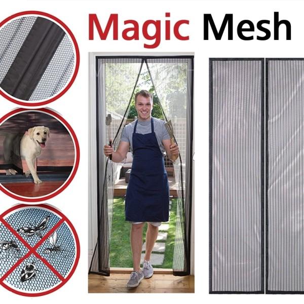 Perdea magnetica impotriva insectelor, pentru usa, cu inchidere