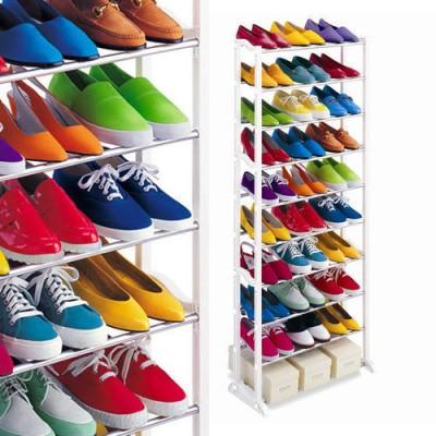 Suport de pantofi, inalt, din metal rezistent, pentru 30 de pere