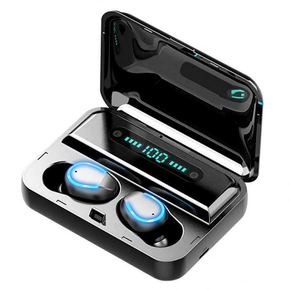 Casti Bluetooth TWS F9, toc incarcare