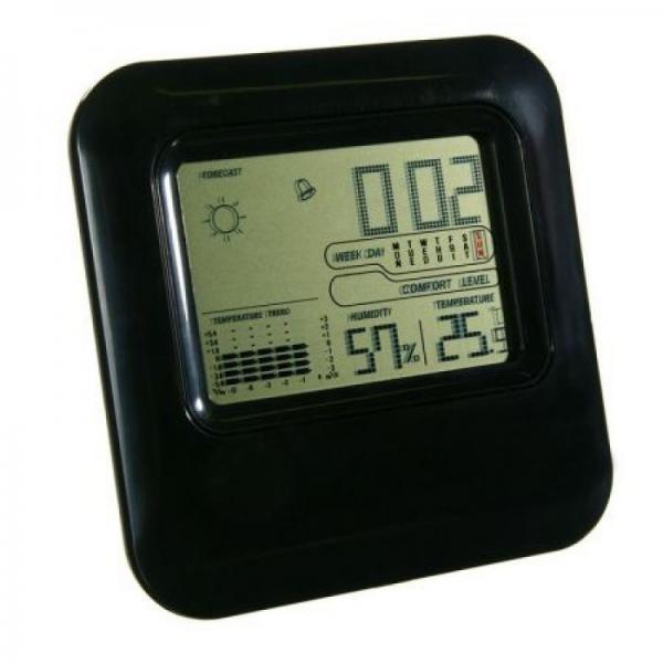 Ceas cu  afisaj digital, indicator umiditate si temperatura