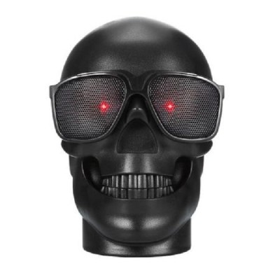 Boxa Portabila Cool Skull Cu Bluetooth, USB, Card, Negru