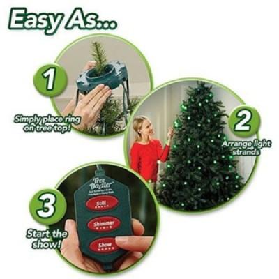 Instalatie LED Tree Dazzler, 16 culori , 5 moduri de functionare, 64 lampi, Telecomanda, Multicolor