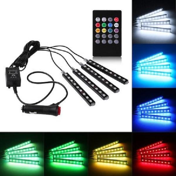 Banda led RGB auto cu 7 culori, joc de lumini si telecomanda