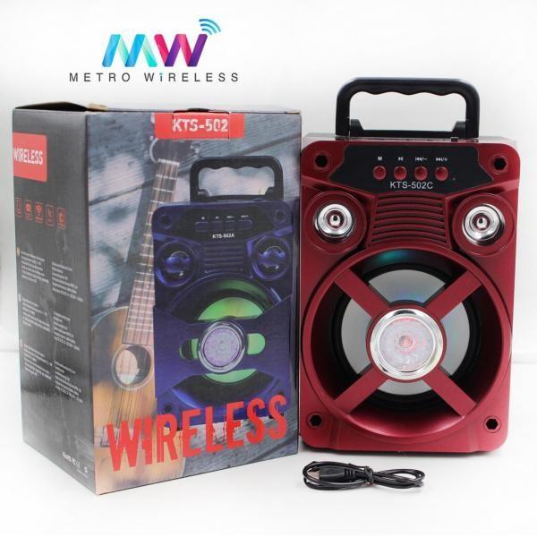 Boxa portabila bluetooth, disco, cu lumini, USB, slot SD si radio