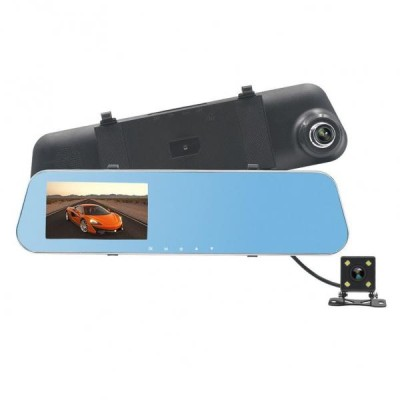 Camera Auto Dubla in Oglinda, pentru parcare, cu touchscreen