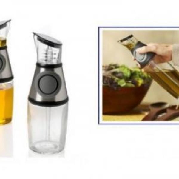 Dispenser gradat pentru ulei sau otet, din sticla