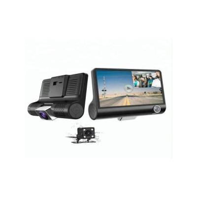 Camera Auto FULL-HD Tripla, fata/spate/interior, ecran 4'', G Senzor, 170 grade
