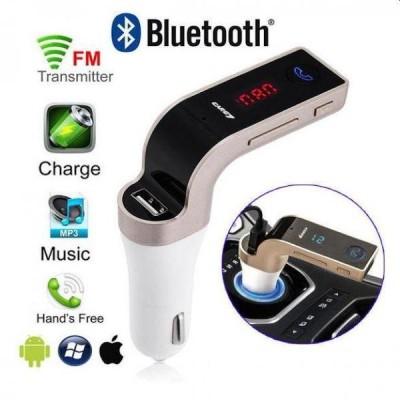 Modulator FM auto cu kit Bluetooth handsfree pentru apeluri telefonice, muzica si radio