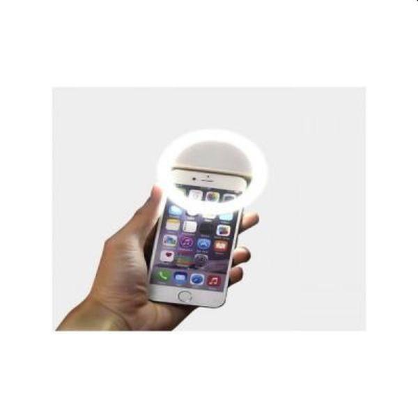 Selfie Ring - inel cu LED-uri  pentru poze luminoase