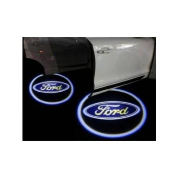 2 Proiectoare auto cu led si logo Ford, pentru portiere
