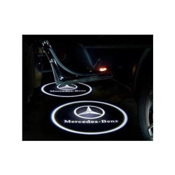 Proiectoare auto cu logo Mercedes Benz, pentru portiere