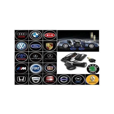 Proiectoare portiere cu Logo Fiat, cu led Cree