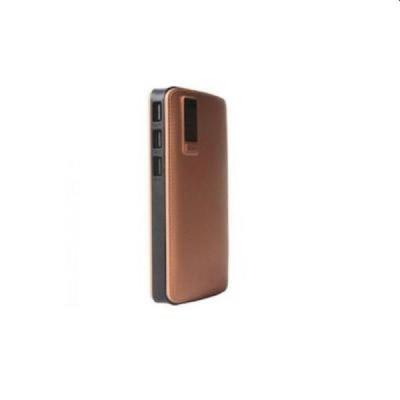Baterie externa 20000 mah, 3 USB, husa piele sintetica