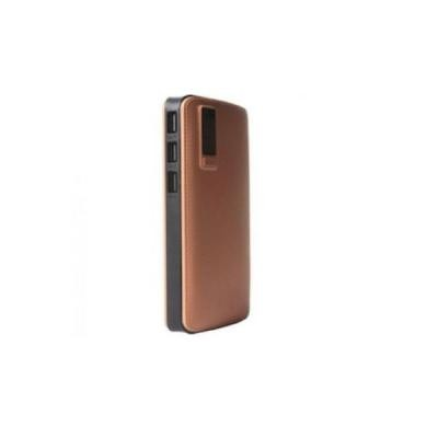 Baterie externa 20000 mah, 2 USB, husa piele sintetica