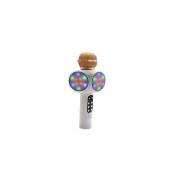 Microfon bluetooth wireless pentru karaoke, cu boxe