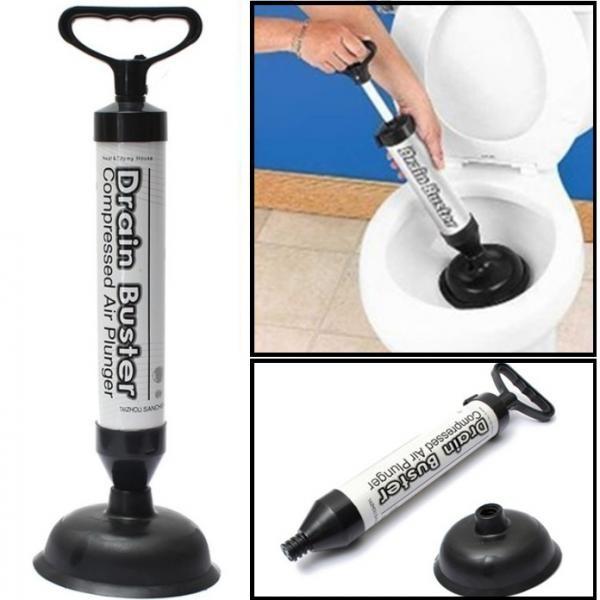 Pompa pentru desfundat chiuveta si scurgerile blocate