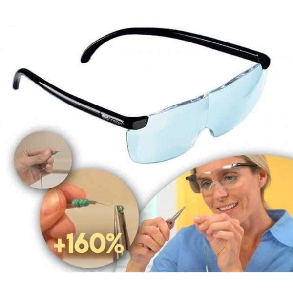 Big Vision- ochelari cu lupa integrata in lentila, marire 160x, model unisex