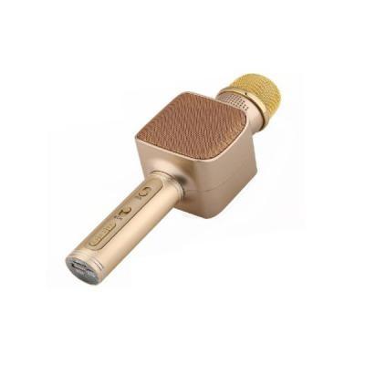 Microfon karaoke, bluetooth, boxe incorporate, auriu
