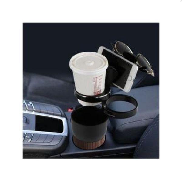 Suport auto pentru cafea, telefon, ochelari, portofel
