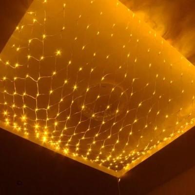 Instalatie tip plasa, 3m x 1.2 m, 160 led-uri Alb Cald