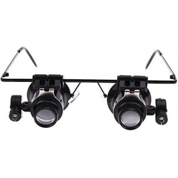 Ochelari cu lupa, putere de marire 20X si led lateral pentru observare amanuntita