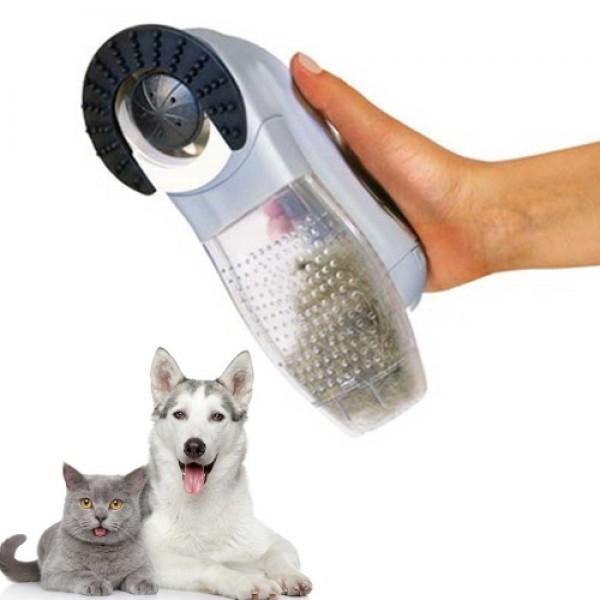 Aparat curatare blana animalelor, perie cu vacuum