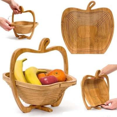 Fructiera din bambus, model inedit, multifunctional