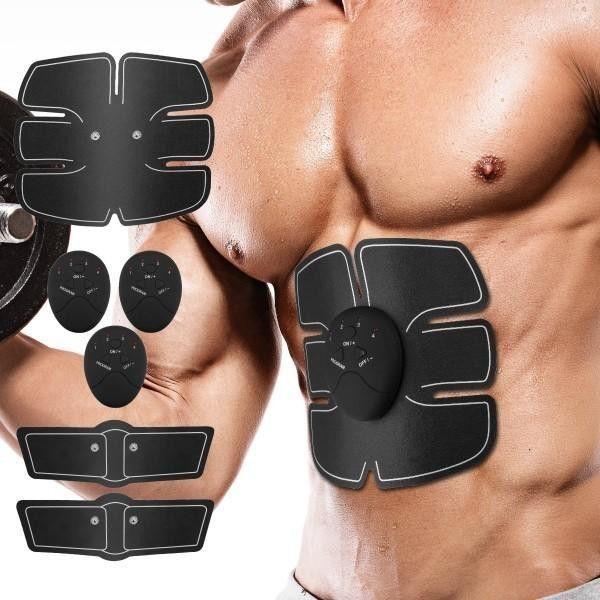 Fitness cu electrostimulare musculara pentru abdomen