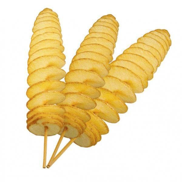 Chipsuri de cartofi spirala doar cu aparatul Potati Spiralizer!