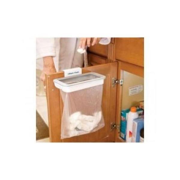Suport sac de gunoi, cu capac si sistem de prindere simplu