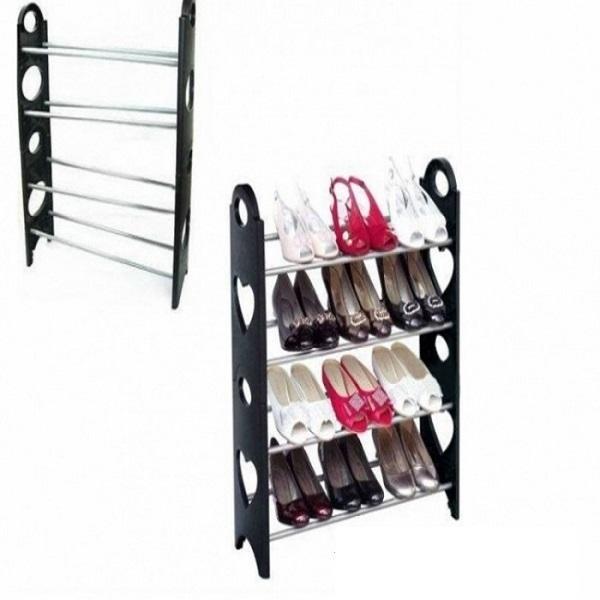 Pantofar pentru 12 perechi, cu rafturi din tije metalice